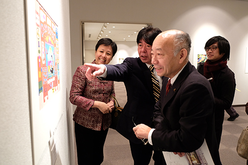 中国农民渔民画展在冈山县举办