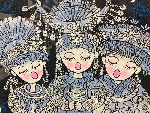綦江農民版画展が長崎で開幕