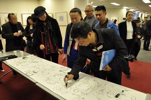 「風刺とユーモア―浙江省現代風刺マンガ展」開幕