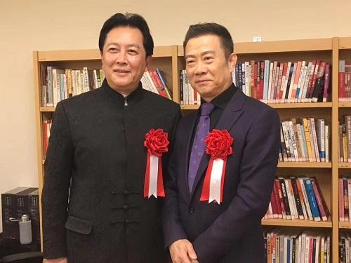 唐国強、趙保楽の書画作品展を開催