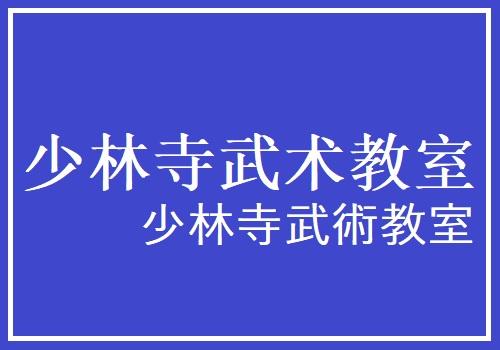 少林寺武術教室 講師:秦西平
