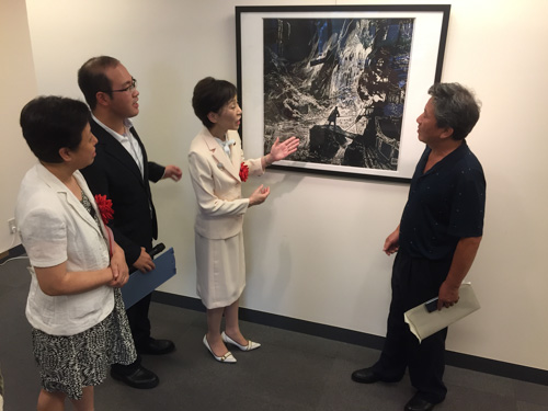 江西省新余市版画展開幕