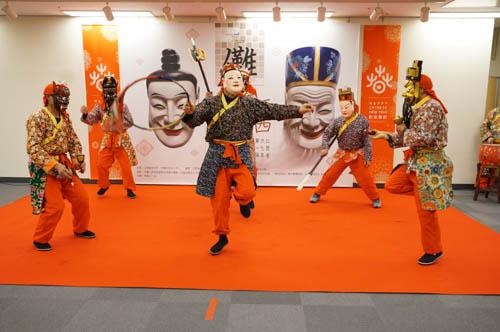 新春を迎え-南豊儺面儺舞が東京に登場