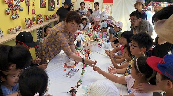チャイナフェスティバル 小麦人形作成体験